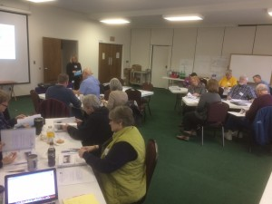 Group gathered at St. Mark's UMC in Charleston, West Virginia for training.